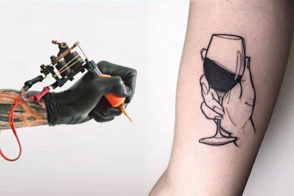 Tatuagens inspiradas em vinho