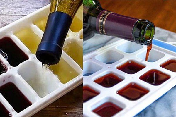 Sobrou vinho? Faça um gelo de vinho!