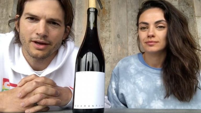 Ashton Kutcher e Mila Kunis lançam vinho para o combate ao Coronavírus