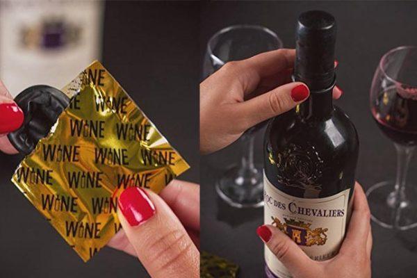Camisinha para vinho: Preserva seu vinho depois de aberto