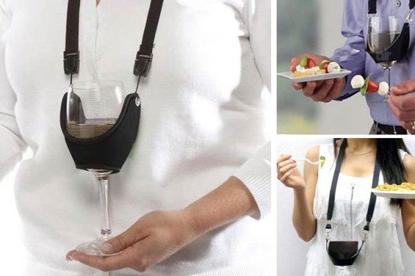 Inventaram o colar ideal para eventos de degustação de vinhos