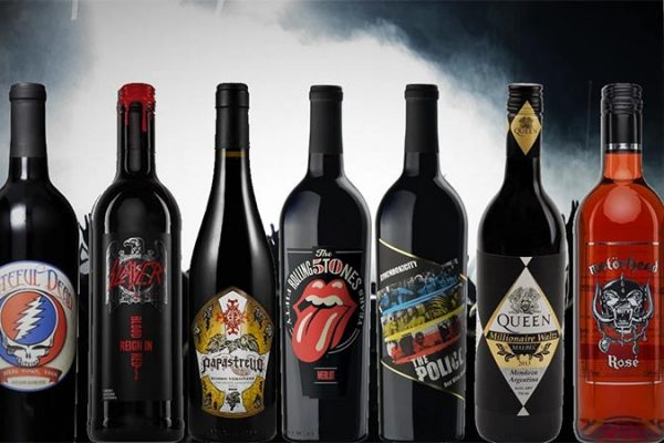 Vinhos de Bandas de Rock