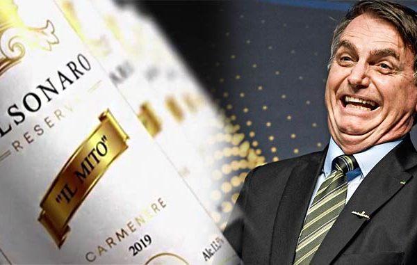 """""""Il Mito"""": Lançaram uma linha de vinhos em homenagem ao Bolsonaro!"""