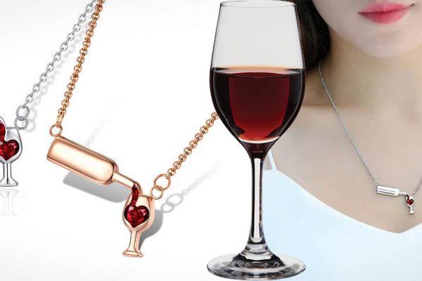 Colar Eu Amo Vinho