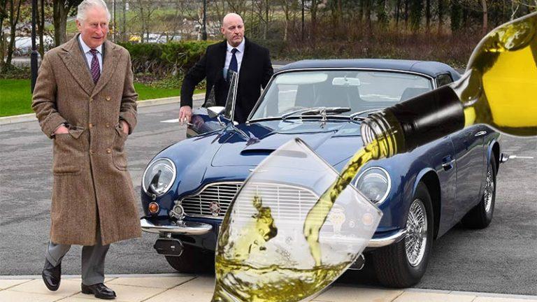 Carro de Príncipe Charles é movido a vinho branco