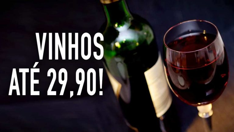 Vinhos até R$29,90
